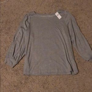 NWT jersey knit shirt with open sleeves